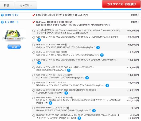 Sycom(サイコム)のパーツの種類